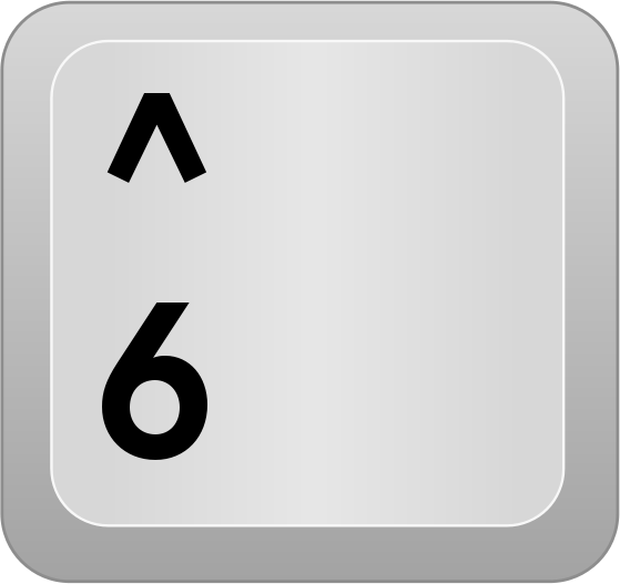 Com Computer Keyboard Keys Number Row Computer Key Num Row 6 Png Html