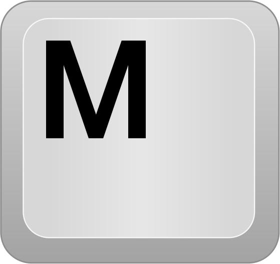 Computer Key M   Http   Www Wpclipart Com Computer Keyboard Keys