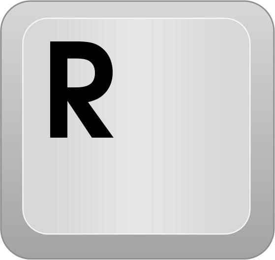Computer Key R   Http   Www Wpclipart Com Computer Keyboard Keys