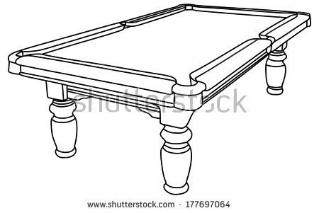 Empty Billiard Isolated Table Stock Photos Illustrations And Vector