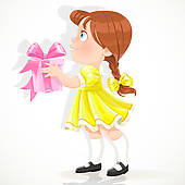 Gift Giving Clipart Royalty Free  3673 Gift Giving Clip Art Vector