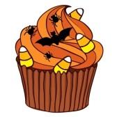 October Cake Clip Art : Orange Cupcake Clipart - Clipart Suggest