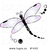 Logo Icon Of A Pink And Purple Colored Dragonfly By Pams Clipart