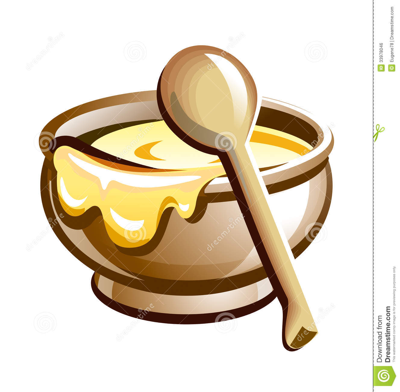 Porridge In The Pot With Wooden Spoon Royalty Free Stock Image   Image