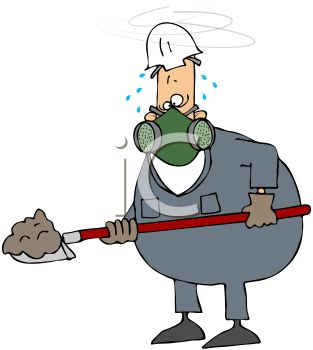 Royalty Free Clip Art Image  Hazardous Job Man Wearing A Respirator