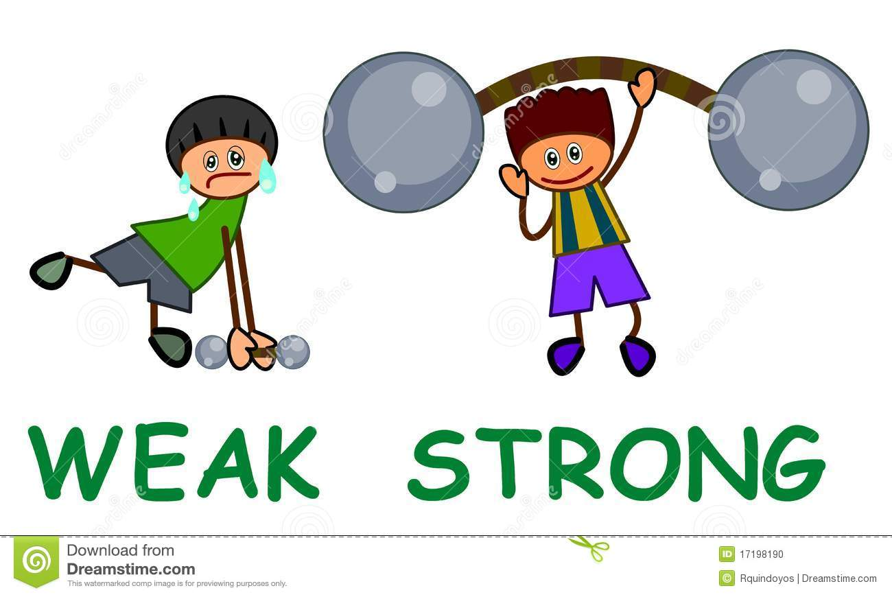 Strong And Weak Clipart Strong And Weak Clipart Strong
