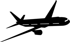 Travel Clipart Image   Jet Airliner In Flight