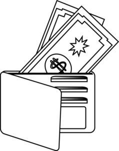 clip art open wallet clipart clipart suggest