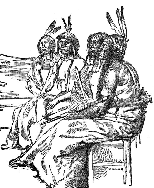American Indian Clipart  Indians In War Paint