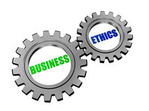 Business Ethics In Silver Grey Gears Royalty Free Stock Photo