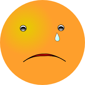 Crying Smiley Clip Art At Clker Com   Vector Clip Art Online Royalty