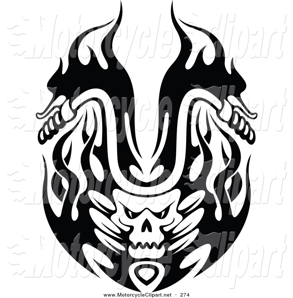 Flaming Skull Motorcycle Handlebars Motorcycle Clip Art Seamartini