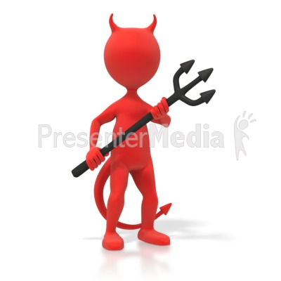 Red Devil Figure   Signs And Symbols   Great Clipart For Presentations