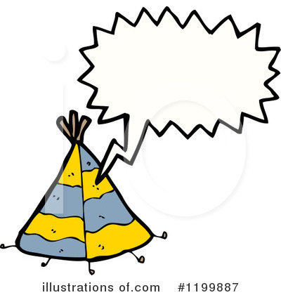 Tee Pee Clipart  1199887 By Lineartestpilot   Royalty Free  Rf  Stock