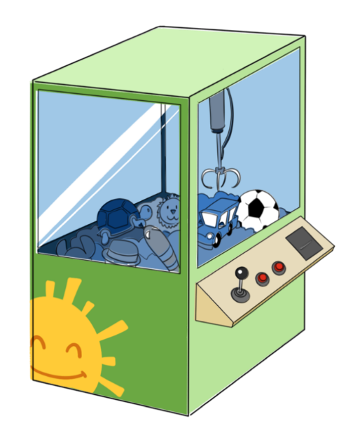 The Claw Arcade Machine Clip Art