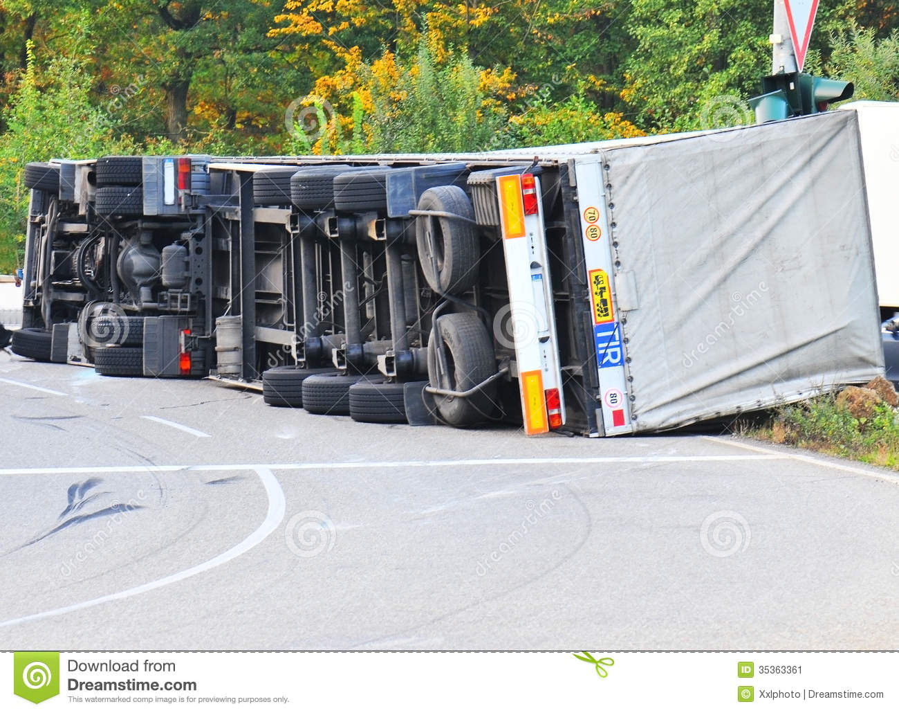 Truck Accident Stock Image   Image  35363361