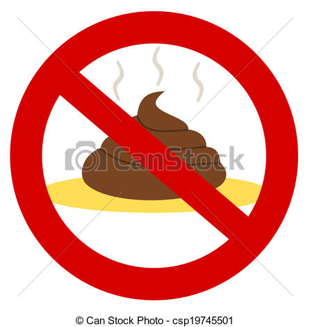 Vector Clipart Of A Shit And Pee In A Prohibition Sign Csp19745501
