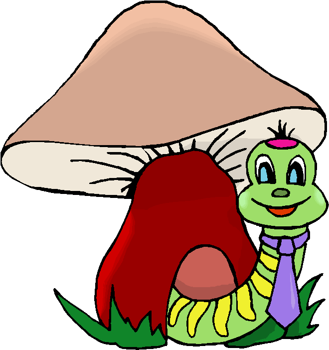 Worm In A Mushroom Free Clipart   Free Microsoft Clipart
