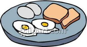 Boiled Eggs Fried Eggs And Toast Royalty Free Clipart Picture
