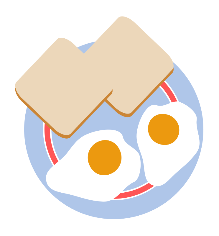 Breakfast Clip Art Composed Of Two Eggs And Toast Is Free For Use On
