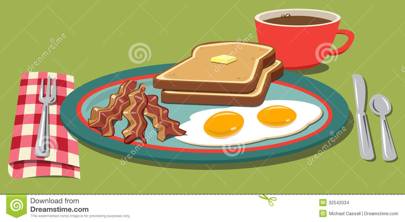 Breakfast Plate Stock Images   Image  32542034