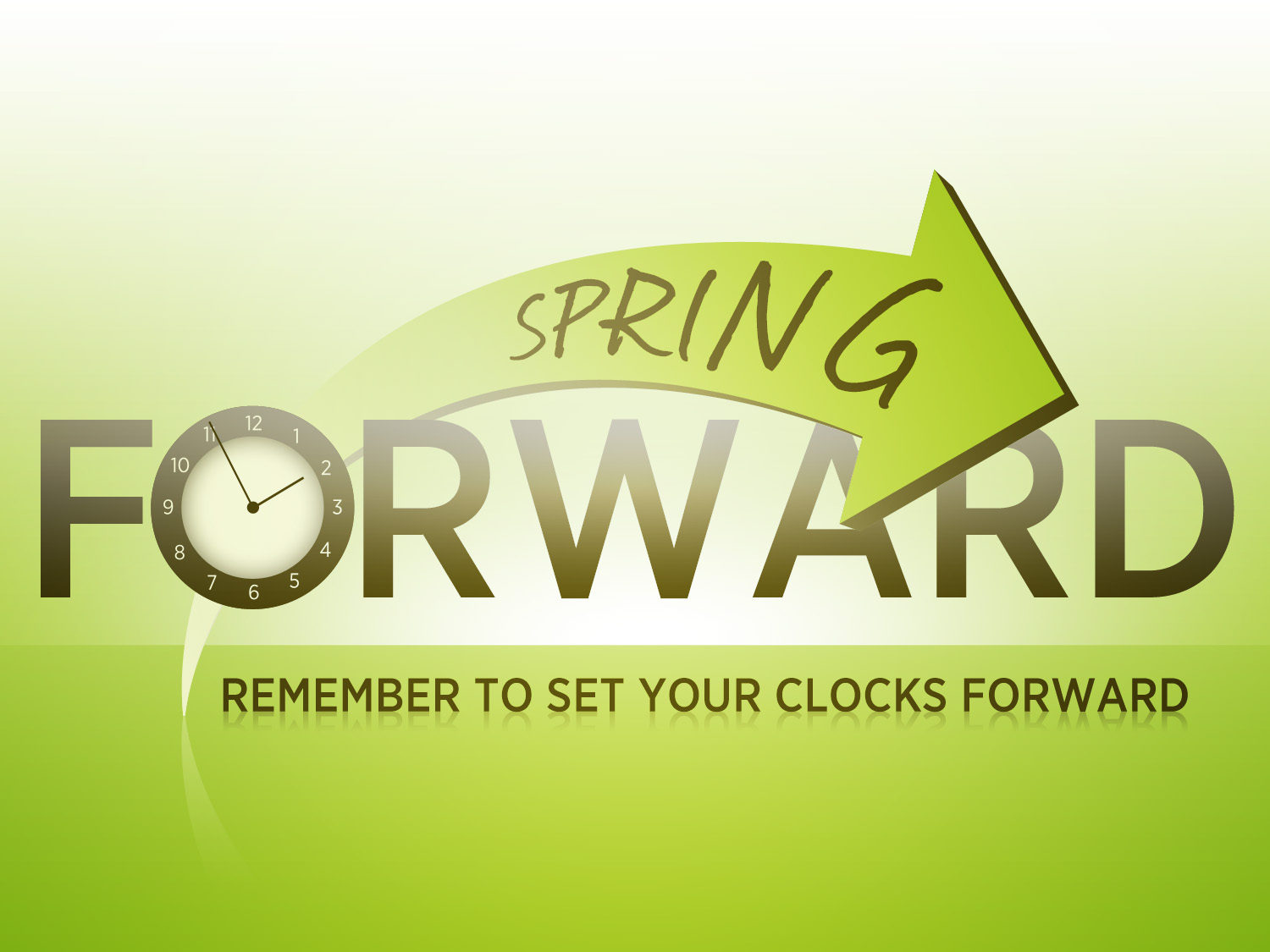 Daylight Savings Spring Forward Clipart Spring Forward Clock   Viewing
