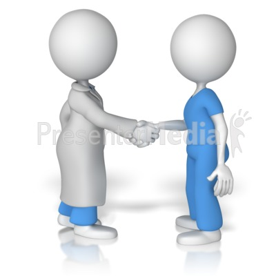 Doctor Shake Hands With Nurse   Presentation Clipart   Great Clipart