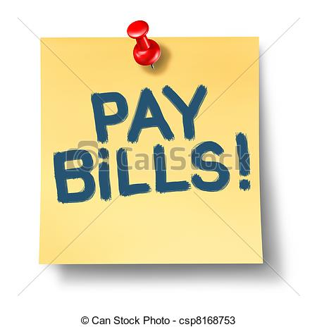 Drawings Of Pay Bills   Paying Bills Office Note Reminder Representing