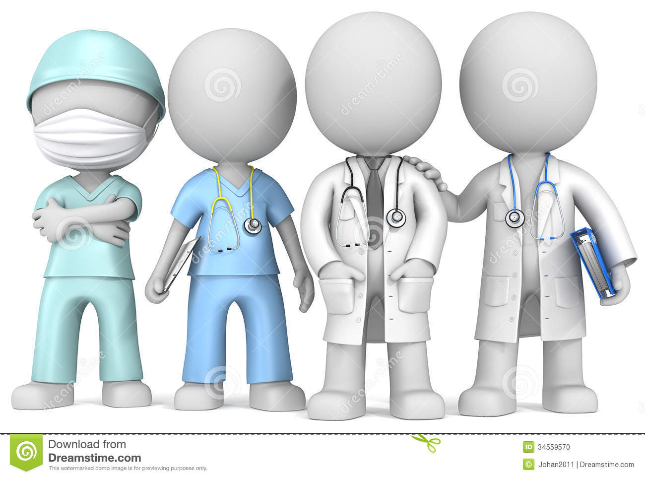 Dude The Doctors And Nurse X 4 Standing In A Row