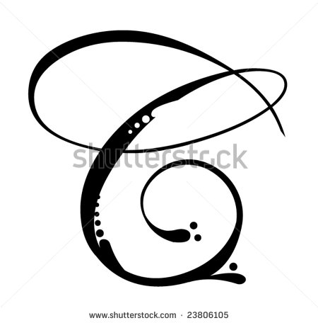 Letter C   Script Stock Vector Illustration 23806105   Shutterstock