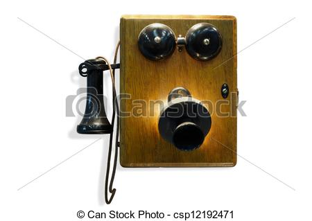 Old Wall Telephone Clipart