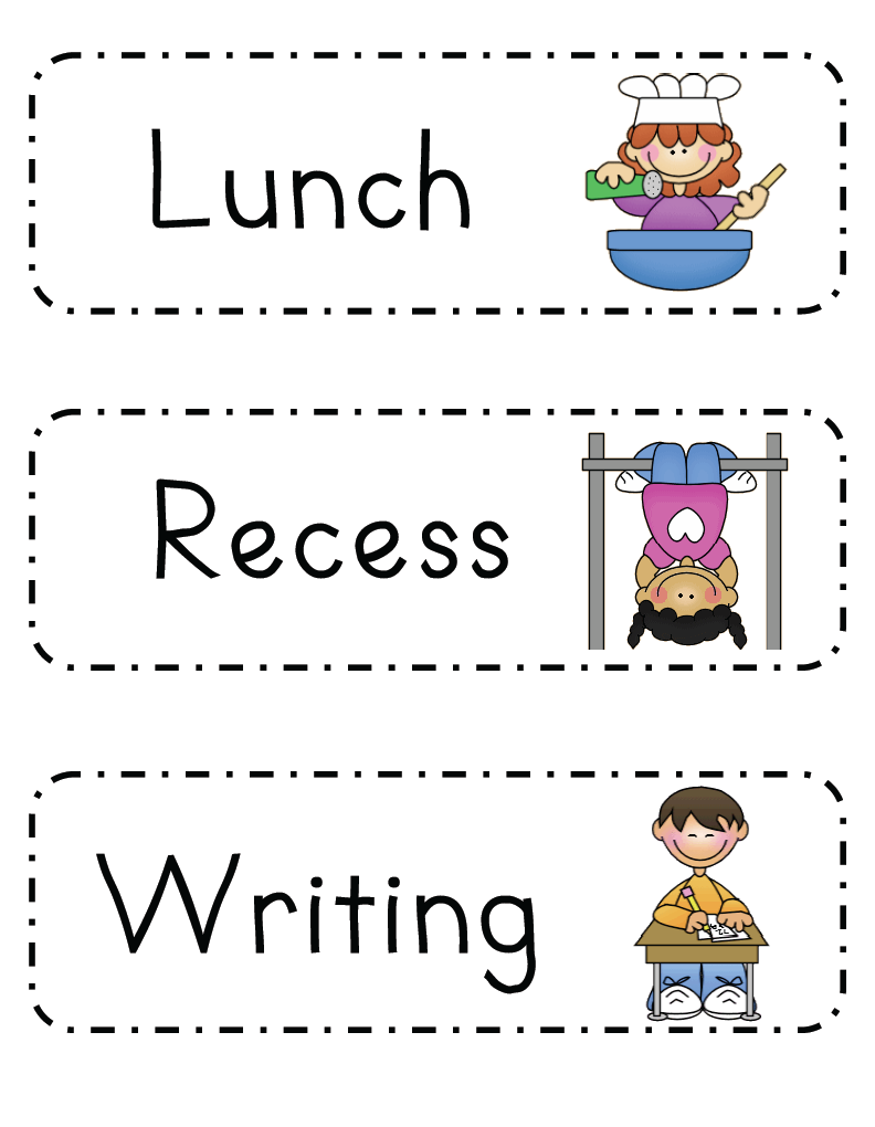 Preschool daily schedule clipart clipart suggest for Preschool classroom schedule template