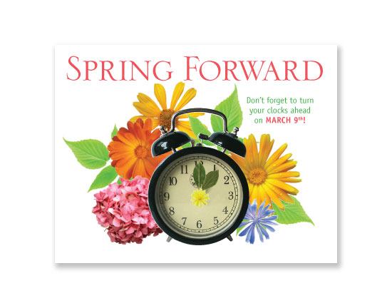 Savings Time Spring Forward Clip Art  Backspring Forward Is March Nd