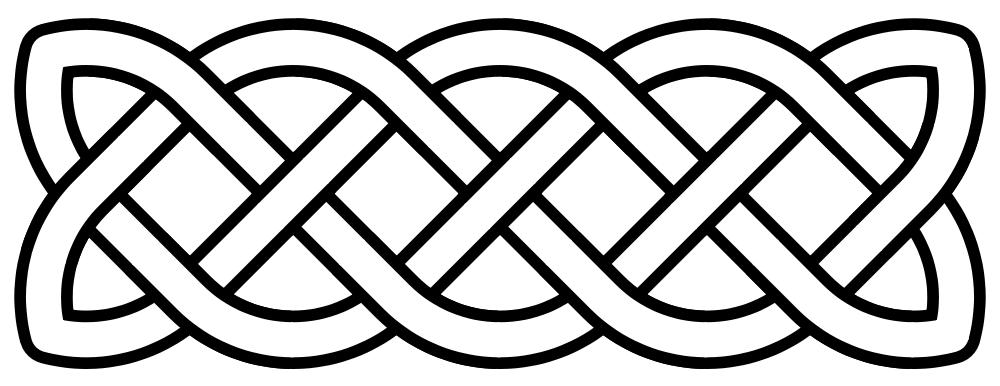 Simple Cross Line Art : Gaelic knot corner clipart suggest