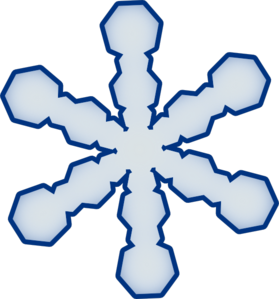 Simple Snowflake Clip Art At Clker Com   Vector Clip Art Online