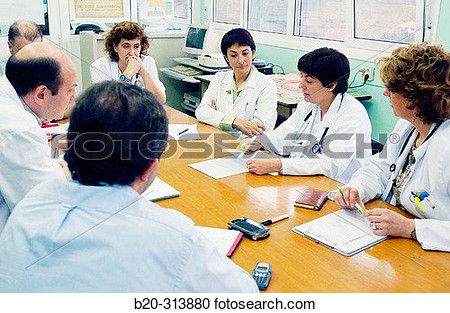 Stock Photography Of Doctors At Training Meeting In Hospital B20