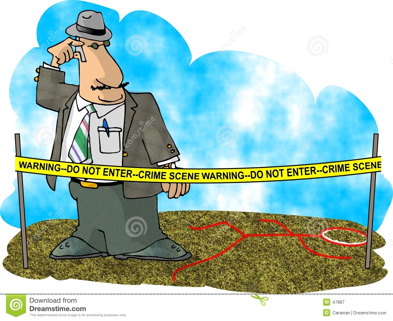This Illustration That I Created Depicts A Crime Scene Investigator