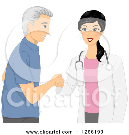 Young Female Doctor Meeting With A Senior Male Patient By Bnp Design