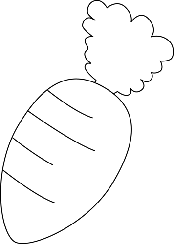 Black And White Carrot Clip Art   Black And White Carrot Image