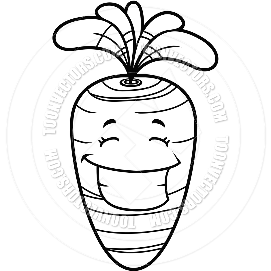 Carrot Black And White Clipart - Clipart Suggest