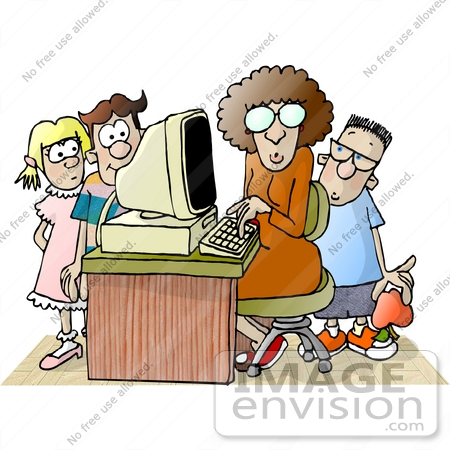 Computer Class Clipart Free
