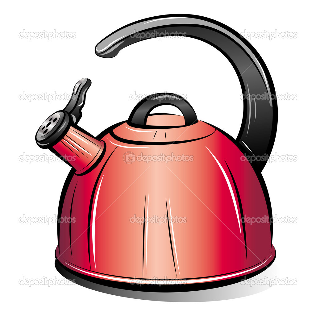 Drawing Of The Red Teapot Kettle Vector Illustration   Stock Vector