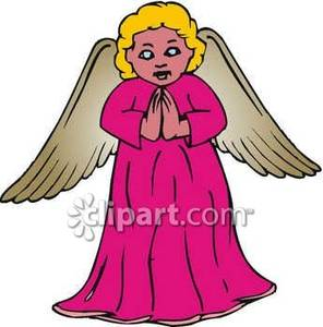 Gif Doodle Graphics Fast Praying Family Angels Set Clipart