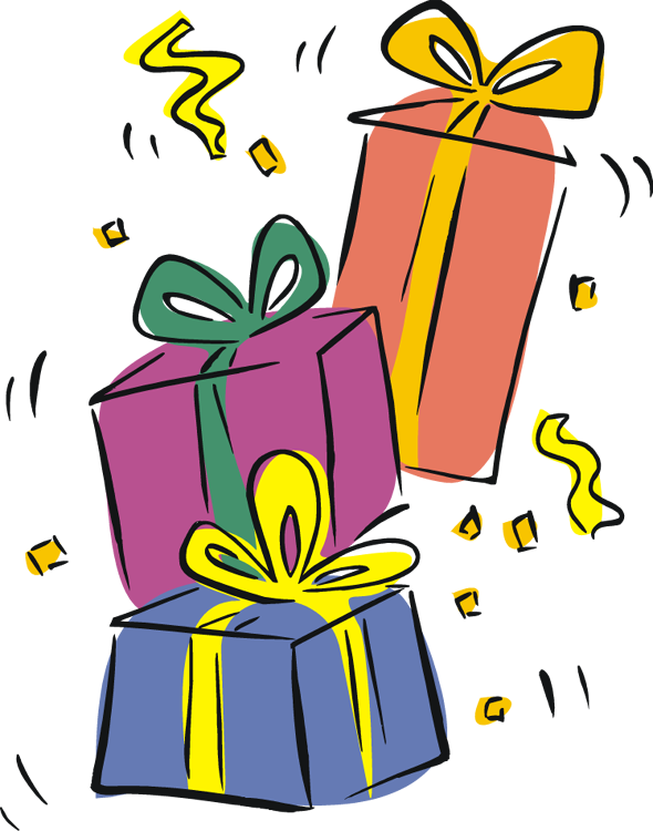 Pile Of Birthday Presents Clipart   Clipart Panda   Free Clipart