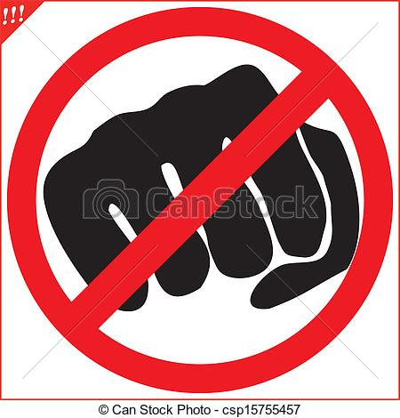 No Fighting Sign No Fighting Clipart - ...