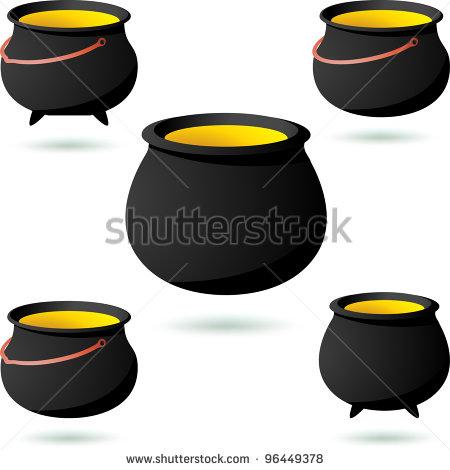 Black Iron Pot Clipart - Clipart Kid
