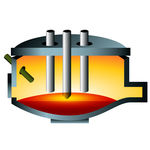 3d Arc Furnace Steel Icon   A 3d Image Of An Arc Furnace