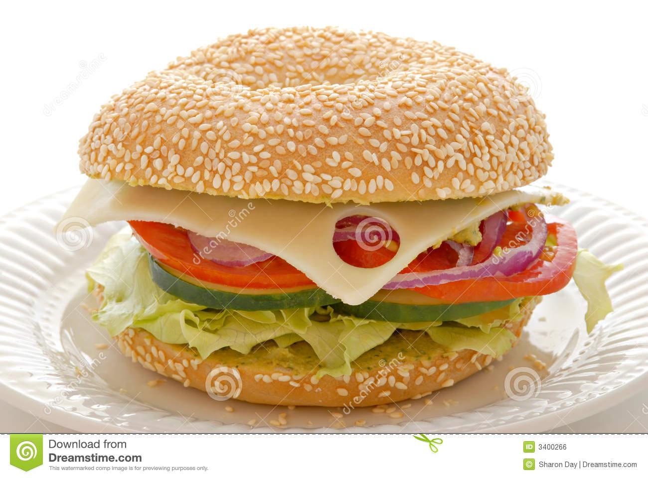 Bagel Sandwich Clipart Veggie Bagel Sandwich
