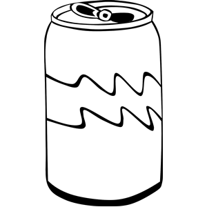 Soda Can Black And White Clipart - Clipart Kid