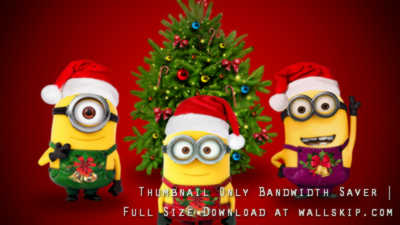 Christmas Tree Minions High Resolution Background 2560x1440